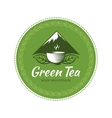 Tea label vector image vector image