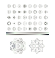 Traditional silver art vector image vector image