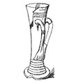 tyg with two handles in 14th century vintage vector image vector image