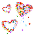 Valentine's flowers vector image vector image