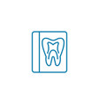 x-ray of the tooth linear icon concept x-ray of vector image vector image