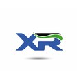 XR logo vector image vector image