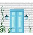 blue door entrance facade vector image
