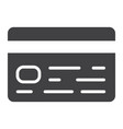 credit card glyph icon business and finance vector image