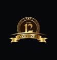 12th years anniversary logo template design