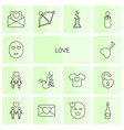 14 love icons vector image vector image