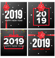 2019 happy new year background set numbers vector image vector image