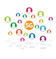 5g internet high-speed social media networking vector image