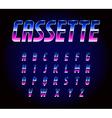 80s Retro Futurism Sci-Fi Font Alphabet vector image vector image
