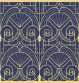 abstract art deco geometric tiles pattern on blue