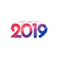 abstract new year 2019 creative lettering vector image vector image