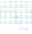 Abstract Textile Snowflakes Dots Horizontal Frame vector image