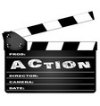 action movie clapperboard vector image vector image