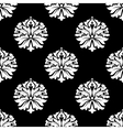 arabesque pattern floral motifs on black vector image vector image