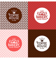Bakery and coffee house seamless patterns vector image vector image