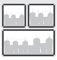 Black frame and city vector image vector image