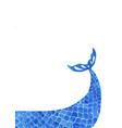 blue marine color mermaid or fish tail with space vector image vector image