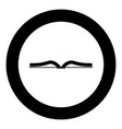 book icon black color in circle vector image