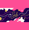 bright colorful sale poster with dynamic waves and vector image vector image