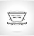bulk cargoes rail car flat line icon vector image vector image