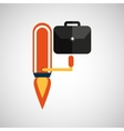 business growth portfolio icon design vector image