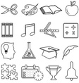 Business productivity icons set vector image vector image