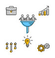 business team icons in set on white vector image vector image
