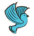 cartoon dove icon vector image
