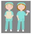 cartoon girls wearing medical uniform vector image