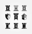 castle logos collection vector image vector image