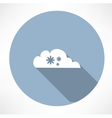 cloud with snowfall icon vector image