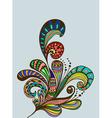 Color floral hand drawn ornament vector | Price: 1 Credit (USD $1)