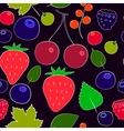 Colorful berries seamless pattern vector image vector image