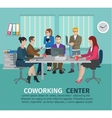 Coworking Center Concept vector image