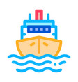 cruise vessel icon outline vector image