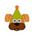 cute dog with party hat avatar vector image vector image