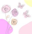 dandelions and butterflies vector image vector image
