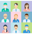 doctor profile medical picture set vector image