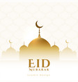 eid mubarak festival golden greeting design vector image vector image