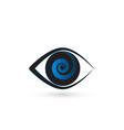 eye with swirly iris icon vector image vector image