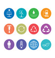 flat design icons set for sustainable energy and vector image