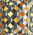 Gold and silver chequered background vector image vector image