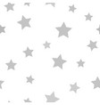 gray star pattern seamless vector image vector image