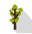 Green tree icon flat style vector image vector image