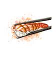 gunkan sushi with shrimp vector image