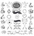 Hand drawing lettering ampersands set Wedding vector image vector image