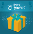 happy carnaval party card vector image