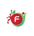 health fruit juice initial f vector image vector image