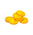 heap of shiny golden coins money and finance vector image vector image