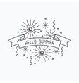 Hello summer Inspirational vector image vector image